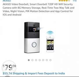 Wifi Video door bell/phone with two way audio And Night vision...