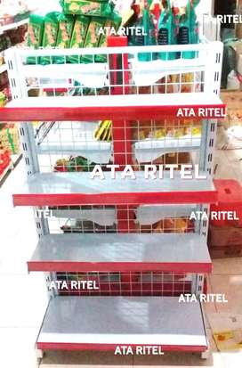 rak minimarket toko perlengkapan petshop jual gondola supermarket atk