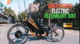 Electric recumbent trike