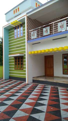 6 cent plot with 2200 sq.ft 4BHK house in kollam  kottiyam