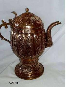 Antique Curio Type   KASHMIRI COPPER SAMAVAR TEA POT