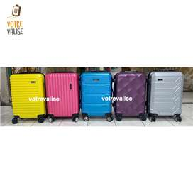 Koper cabin kabin fiber pesawat travel bag Polo trolly roda 4 import