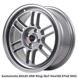 all new KUMAMOTO 60423 HSR R16X7 H4x100 ET40 SMG