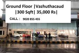 300 Sqft | Ground Floor | Vazhuthacaud | 35000 Rs