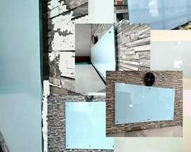 papan tulis glasstone 5mm non magnetic 180*90