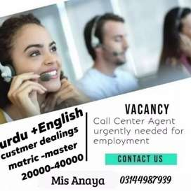 Call centre operater (Custmor Dealing)