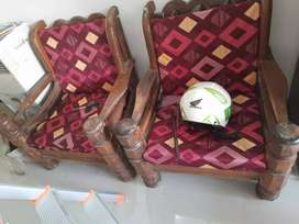 Old Strong Wooden Sofa Set