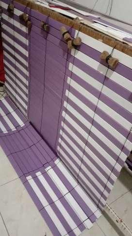 Tirai kayu indoor dan outdoor motif