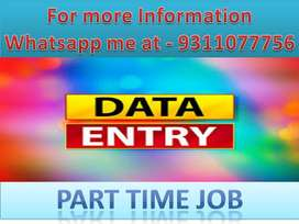 Data entry job work at home based typing job part time work