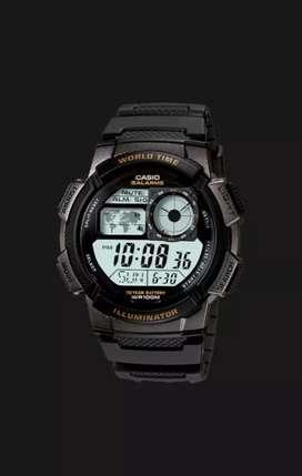 Casio AE-1000W-1AVDF - 10 Year Battery - Water Resistance 100M Black
