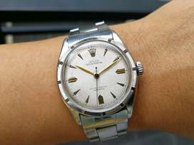 50s Rolex Oyster Perpetual 6103 honeycomb waffle dial Bubbleback patek