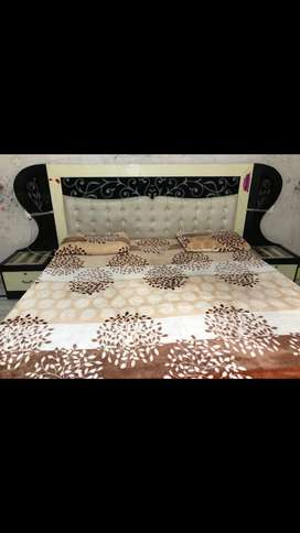 Double Bed with two side table