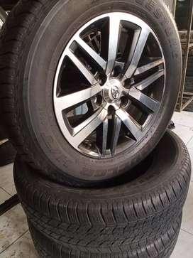 OMAH BAN. velg Oem Toyota Fortuner VRZ R18 + Ban Bridgestone