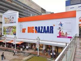 Hiring for workers and helpers in Big bazaar