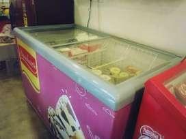 Cell Glass Top Ice -cream Freezer