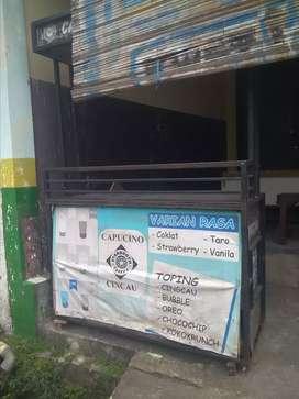 Dijual gerobak besi bekas es cappucino
