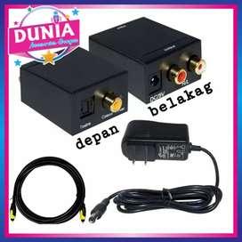 Paket analog RCA Digital optik. KABEL OPTIC.CONVERTER.KABEL POWER