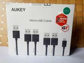 《SEGEL》 ISI 5 pc AUKEY Kabel Micro USB CB-D5 GARANSI 2 Tahun