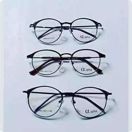 Kacamata bulat modist retro