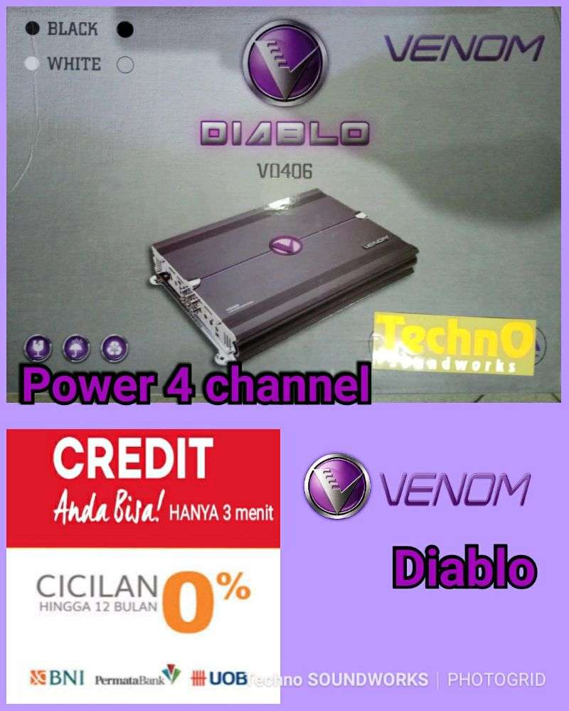 Diablo Power venom 4 ch paket 406 paket sound tv amplifier 0