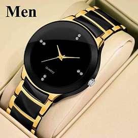 vm watch men gold color watch