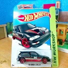 Hot wheels hotwheels 90 honda civic ef black hitam rare