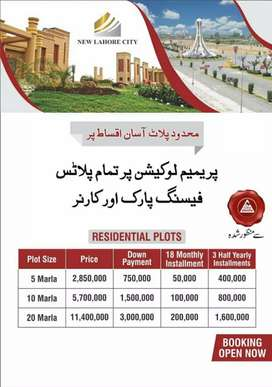 Developed Plots in New Lahore City near Bahria Town Ring Road