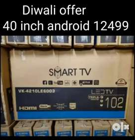 Diwali offer 40 inch android led with year warranty
