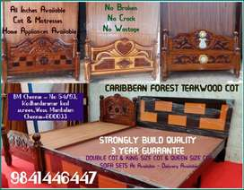 CARIBBEAN FOREST TEAKWOOD ( COT ) THREE YEAR GUARANTEE -KING SIZE -QUE