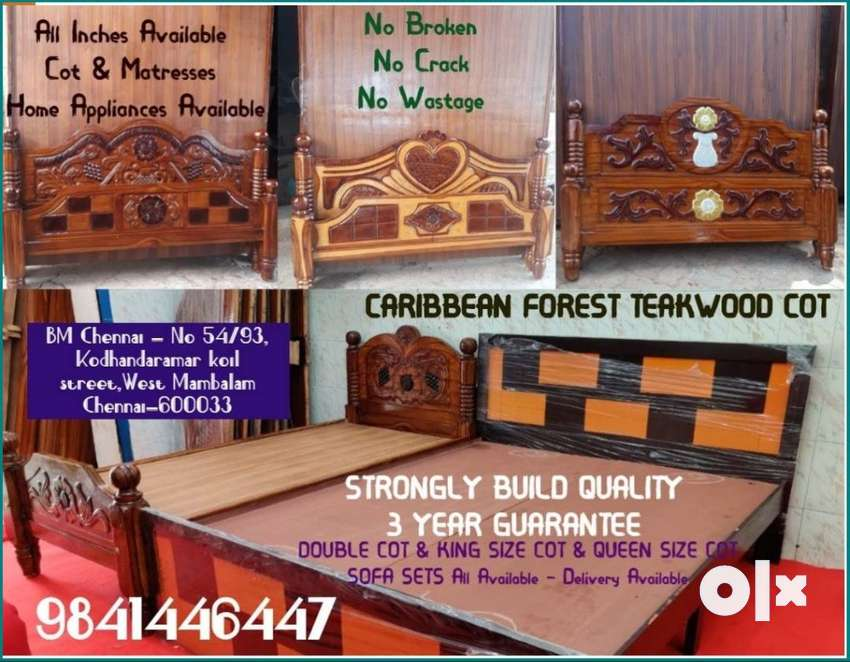 CARIBBEAN FOREST TEAKWOOD ( COT ) THREE YEAR GUARANTEE -KING SIZE -QUE 0