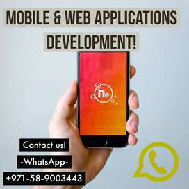 Android apps and   also IOS apps Services