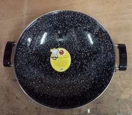 Wajan Anti Lengket Enamel Marble Royal Wok Maspion 35cm