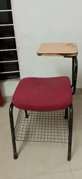 Study chair with table.