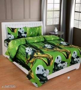 Poly Cotton printed double bedsheets