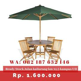 Meja taman payung murah se-jogja untuk usaha cafe, resto, villa dll