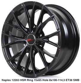 jual velg naples hsr ring 15 warna black et38