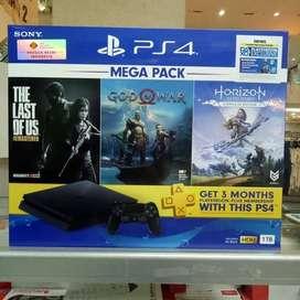 Ps4 New Slim 1TB Mega Pack 3 Games, Garansi Resmi Sony 1 Tahun