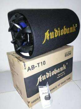Subwoofer mobil aktif audiobank basstube 10 inch audiobank subwoofer
