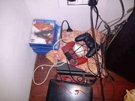 PS 4 with six game cds