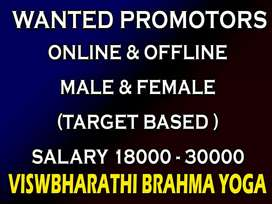 Home based job need promoters male&female for yoga ttc courses kochi