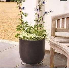 pot terrazzo bisa satu paket dengan  tanaman