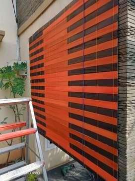 Jual krey outdoor kayu motip 21