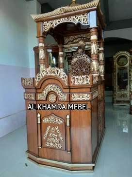 Free Ongkir Mimbar Masjid Ukiran Kaligrafi