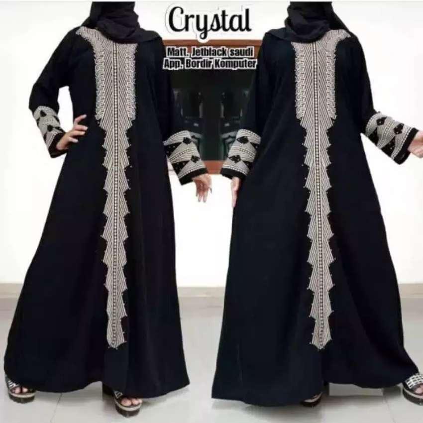 Abaya bordir kristal 0