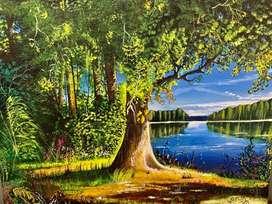 """Venustas autem naturae"" || Fine Natural Scenery acryllic painting ||"