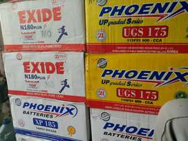 NEW EXIDE N-180 BATTERY WITH FREE HOME DELIVERY FREE BATTERY FITTING
