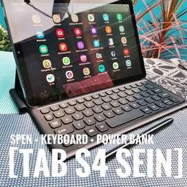 Samsung Tab S4 Sein Fullset Ori + Spen + Keyboard + Powerbank