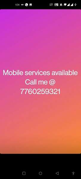 Mobile phone services available