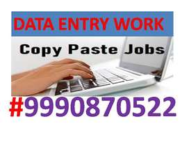 Data entry JOB Part time work Home Based Job Typing Work/COPY PASTE>