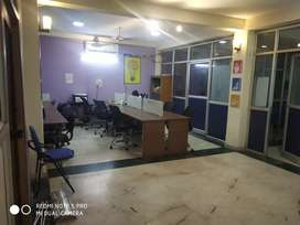 Cabin + 12 work station on rent in premium location of Noida sector 2